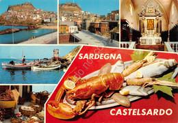 Cartolina Sardegna Castelsardo Vedute Aragosta - Sassari