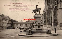 Nancy - Place Saint-Epvre - Statue De René II - Palais Du Gouvernement - Nancy