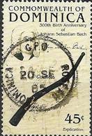 DOMINICA 1985 300th Birth Anniversary Of Johann Sebastian Bach (composer) - 45c. Cornett FU - Dominica (1978-...)
