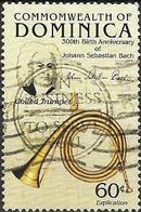 DOMINICA 1985 300th Birth Anniversary Of Johann Sebastian Bach (composer) - 60c. Coiled Trumpet FU - Dominica (1978-...)