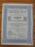 """RUSSIE - BERDIANSK 1911 - FABRIQUE DE MACHINES AGRICOLE ET INTRUMENTS """"VEUVE MARTHIAS"""" - ACTION 100 ROUBLES - Unclassified"""