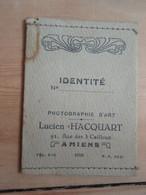 Petite Pochette Ancienne D'identité Photographie D'Art AMIENS - Unclassified