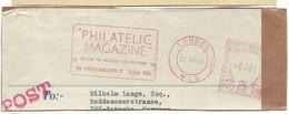 EMA METER STAMP FREISTEMPEL AFS - PHILATELIC MAGAZINE LONDON 1961 GREAT BRITAIN - Philately & Coins