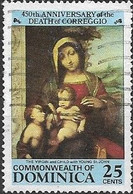 DOMINICA 1984 450th Death Anniversary Of Correggio (painter) - 25c - The Virgin And Child With Young St. John FU - Dominica (1978-...)