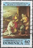 DOMINICA 1984 450th Death Anniversary Of Correggio (painter) - 60c - Christ Bids Farewell To The Virgin Mary FU - Dominica (1978-...)
