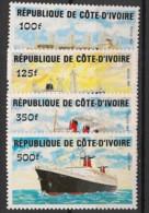 Cote D'Ivoire - 1984 - N°Yv. 691 à 694 - Bateaux - Neuf Luxe ** / MNH / Postfrisch - Costa D'Avorio (1960-...)
