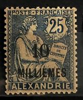 ALEXANDRIE 1921/23 - MLH - YT 55 - 10m/25c - Alexandrie (1899-1931)