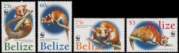 Belize 2004, WWF - Central American Woolly Opossum, MNH Stamps Set - Belize (1973-...)
