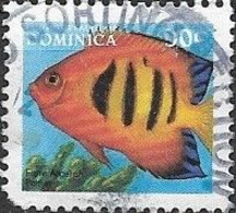 DOMINICA 1996 Fish - 90c - Flame Angelfish FU - Dominica (1978-...)