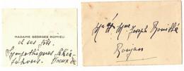 OCCITANIE AVEC SON ENVELOPPE CARTE DE VISITE DE MME ROMIEU GEORGES POUR ROUJAN HERAULT MR MME ROUILLE JOSEPH - Visiting Cards