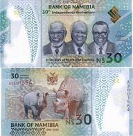 NAMIBIA        30 Dollars        Comm.       P-New        2020        UNC - Namibië