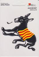Adhésif  Détouré: Âne Noir Avec Drapeau Catalan (voie Scan) - Stickers