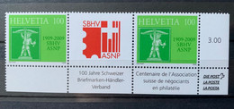 10651 - S92 Centenaire Association Des Marchands En Philatélie Paire Se Tenant Avec Pont   Neuf *** - Se-Tenant