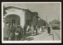 Latvia USSR - Train At Asari Station (Jurmala), Old Postcard - Letonia