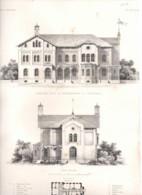 Gandersheim 1857 Ebeling Ehrig Bahnhof  - Litho Lithographie - Lithografieën