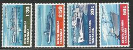 1969 Kenya Uganda Tanzania Water Transport Ferries Ships Complete Set Of  4 MNH - Kenya, Oeganda & Tanzania