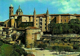 Italy Urbino Panorama General View Castle Church Towers Postcard - Andere
