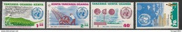1973 Kenya Uganda Tanzania  WMO Weather Meteo Science  Complete Set Of  4 MNH - Kenya, Uganda & Tanzania