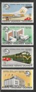 1974 Kenya Uganda Tanzania  UPU Train Airplane Aviation Complete Set Of  4 MNH - Kenya, Uganda & Tanzania
