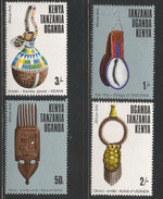 1975 Kenya Uganda Tanzania  African Arts Festival Culture Complete Set Of  4 MNH - Kenya, Uganda & Tanzania