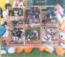 Sports Olympic Games  Olympics,  Pekin 2008,american Football, Baseball, Benin Used Set 6v. - Athletics