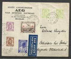 1935 - PA 6 Oblitérés (o) Sur LETTRE + Val. Complémentaires COB N° 418A (x2),422, 424 Et 464 - Airmail