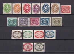 Bayern - Dienstmarken - 1920 - Michel Nr. 44/61 - Ungebr.m.Falz - Bayern
