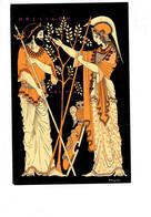 Cpm - GRECE - Mémoire De La Grèce Ancienne - Poseidon Et Athena - Femme Homme Hibou N°7 Atelier Victor - Greece