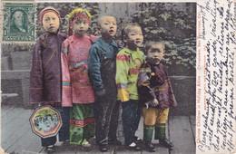 854/ Chinese Children In Holidat Attire, Chinatown, San Francisco, 1906 - San Francisco