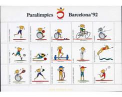 Ref. 258087 * MNH * - SPAIN. 1992. PARALYMPIC GAMES BARCELONA 1992 . JUEGOS PARALIMPICOS DE BARCELONA 1992 - 1931-Hoy: 2ª República - ... Juan Carlos I
