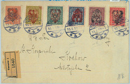 94169 - AUSTRIA/ POLAND - POSTAL HISTORY - Overprinted Stamps On COVER From TARNOW  1919 - 1919-1939 Republic