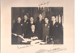 Cabinet De Maurice Viollette , Ministre D'Etat Du Front Populaire 1936 - Chargé De L'Algérie - Autographe Photo 28 X 20 - Autografi