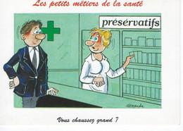 """CPM - ALEXANDRE - Humour - Les Petits Métiers Et La Santé - """"Vous Chaussez Grands ?"""" TBE - Alexandre"""