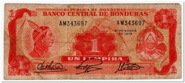 HONDURAS,1 LEMPIRA,1972,P.55,FINE - Honduras