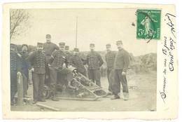 Cpa Carte-photo Soldats & Canon , Artillerie - Materiale