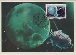 URSS Carte Maximum Espace Space 1984 25ème Anniversaire De La Télévision Spatiale 5151 - Cartes Maximum