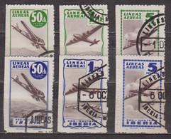 Vignettes Iberia - Timbres Pour Colis Aériens Pour Lisboa , Tanger , Marruecos - Avion - Espagne - 1945 - Unclassified