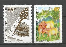 Timbre De Polynésie Française Neuf ** N 524/525 - Neufs
