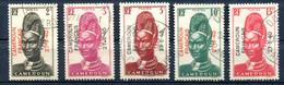 Cameroun - Yvert 208 209 211 212 & 213 - Surcharge Cameroun Français 27-8-40 - T 1026 - Kamerun (1915-1959)