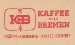 EMA METER STAMP FREISTEMPEL BREMEN  KAFFEE CAFFÈ WORKER WITH COFFEE - Autres