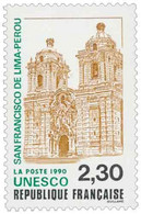 U.N.E.S.C.O San Francisco De Lima Yvert & Tellier N°102 - Neufs