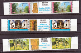 Polynésie  243A/245A édifices Religieux  Neuf * * TB  MNH Sin Charnela - Ongebruikt