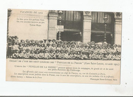 GARE SAINT LAZARE 20 AOUT 1903 DEPART DE L'UNE DES 9 COLONIES DES PUPILLES DE LA PRESSE - Métro Parisien, Gares