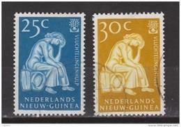 Nederlands Nieuw Guinea Dutch New Guinea 61 - 62 Used ; Vluchtelingen Zegels, Stamps Refugees 1960 - Nederlands Nieuw-Guinea