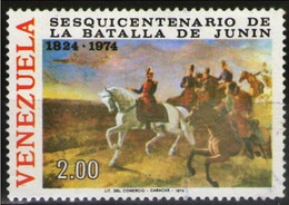 VENEZUELA 1974 - LA BATALLA DE JUNIN - YVERT Nº 931** - Venezuela