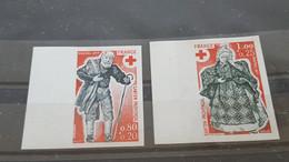 LOT515427 TIMBRE DE FRANCE NEUF** LUXE  NON DENTELE N°1959/1960 - Imperforates