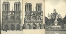 Lot De 32 CPA Sur Notre Dame - Nombreuses Gargouilles - Eglise - Christiannisme - Kirchen Und Klöster