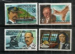 Explorateurs De L'ILE CHRISTMAS. Océan Indien: (Dutch Captain De Vlamingh,British Admiral John Maclear,etc) Neufs ** - Christmas Island