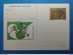1999 ITALIA CARTOLINA POSTALE NUOVA NEW MNH** SPORT CAMPIONATI EUROPEI DI HOCKEY - 6. 1946-.. Repubblica