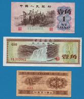 CHINA LOT BILLETS 3 BANKNOTES - Cina
